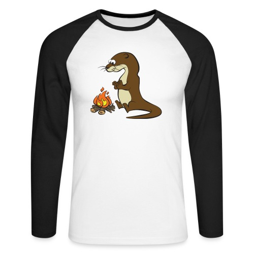 Song of the Paddle; Quentin campfire - Men's Long Sleeve Baseball T-Shirt