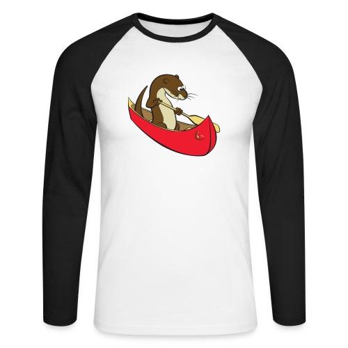 redcanoewithsticker - Men's Long Sleeve Baseball T-Shirt