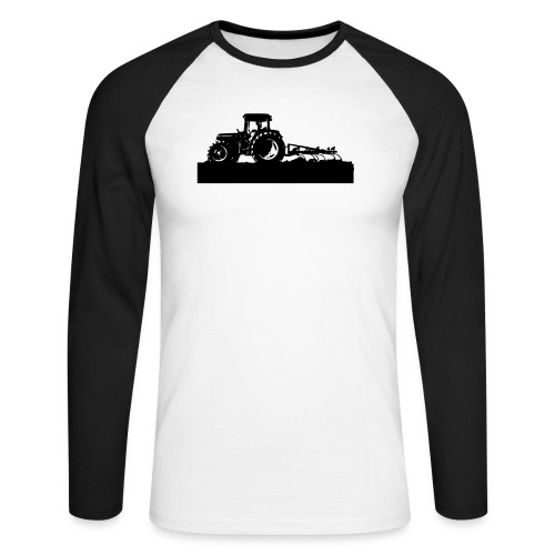 Tractor with cultivator - Men's Long Sleeve Baseball T-Shirt
