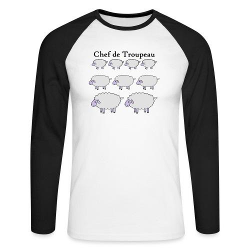 chef-de-troupeau - T-shirt baseball manches longues Homme