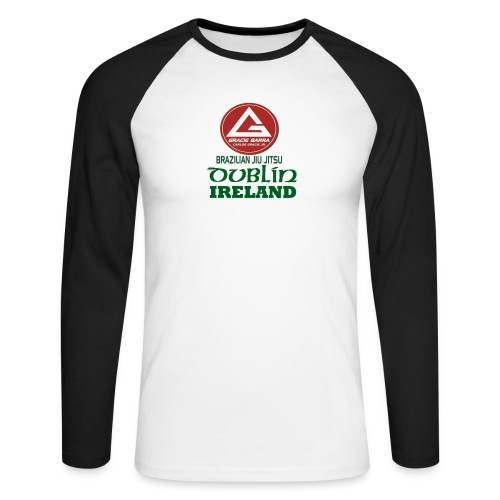 Gracie Barra Dublin Gaelic Celtic Font PNG - Men's Long Sleeve Baseball T-Shirt