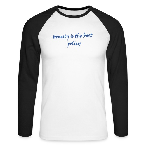 Proverbs in English - Men's Long Sleeve Baseball T-Shirt
