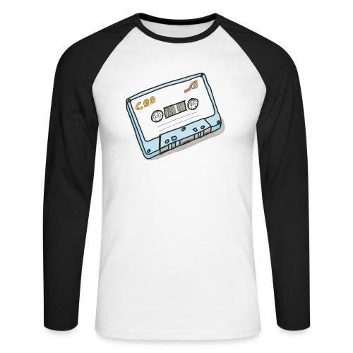 Cassette - Männer Baseballshirt langarm