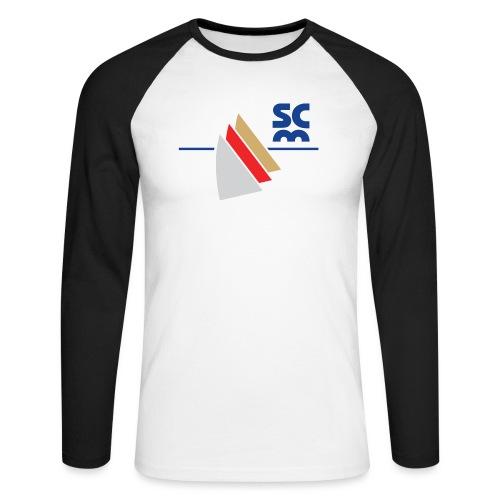 Modernes SCM Logo - Männer Baseballshirt langarm