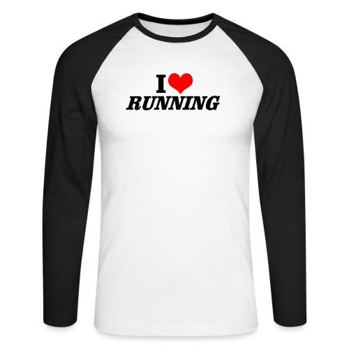 I love running - Männer Baseballshirt langarm