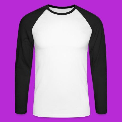 SoN T-Shirt White Logo - Men's Long Sleeve Baseball T-Shirt