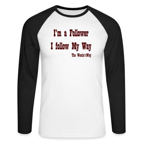 I follow My Way Brown - Koszulka męska bejsbolowa z długim rękawem