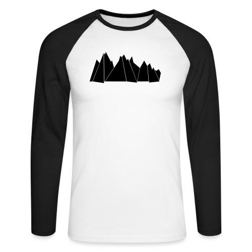 BlackMountains - Männer Baseballshirt langarm