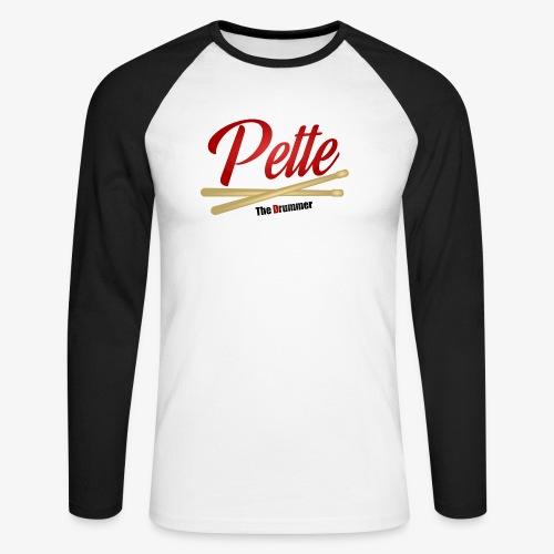 Pette the Drummer - Men's Long Sleeve Baseball T-Shirt