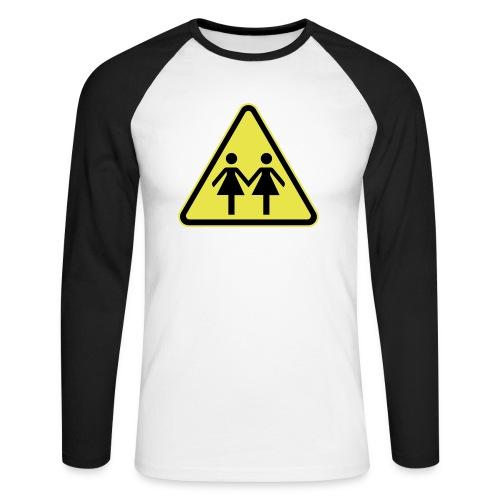 ACHTUNG LESBEN POWER! Motiv für lesbische Frauen - Männer Baseballshirt langarm