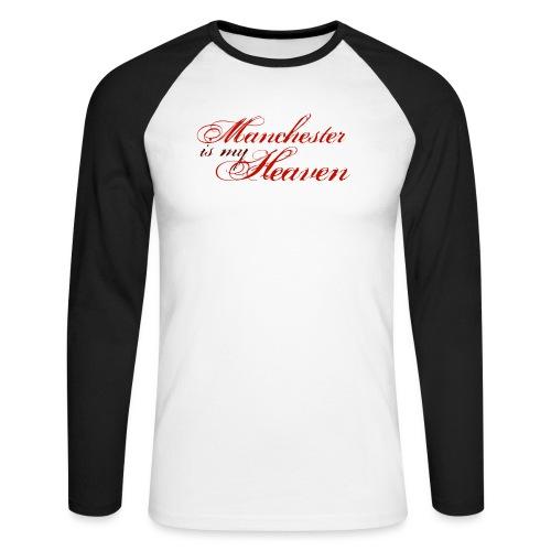 Manchester is my heaven - Men's Long Sleeve Baseball T-Shirt