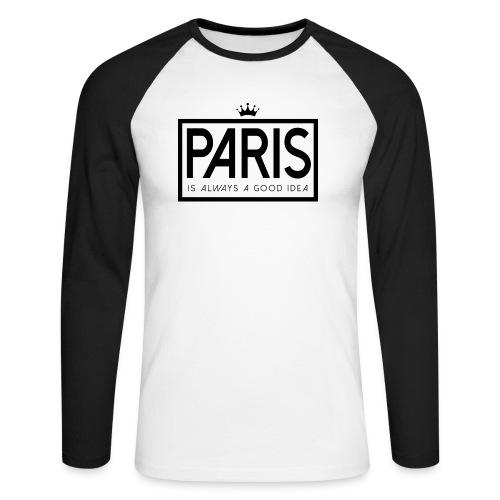 PARIS, FRANCE - Men's Long Sleeve Baseball T-Shirt