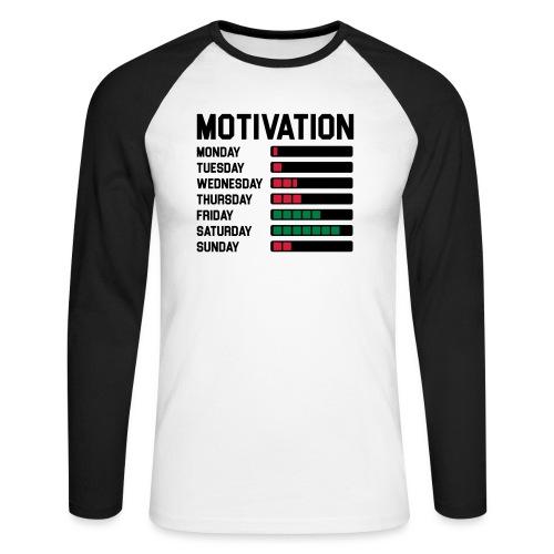 Wochen Motivation - Männer Baseballshirt langarm