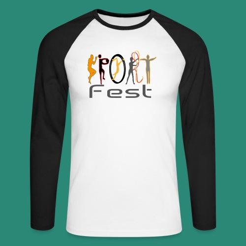sportfest - Männer Baseballshirt langarm