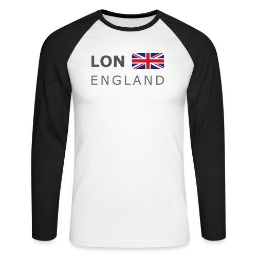 LON ENGLAND BF dark-lettered 400 dpi - Men's Long Sleeve Baseball T-Shirt