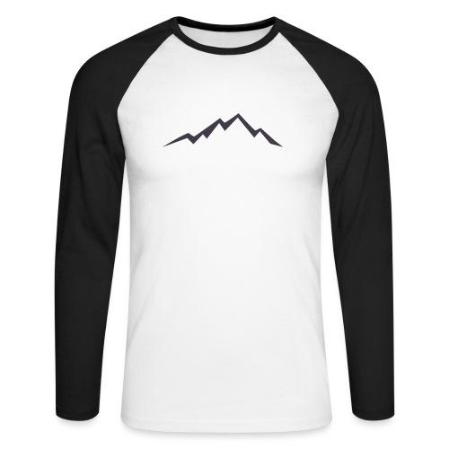 swiss alps clipart sihllouette ski mountains - Mannen baseballshirt lange mouw