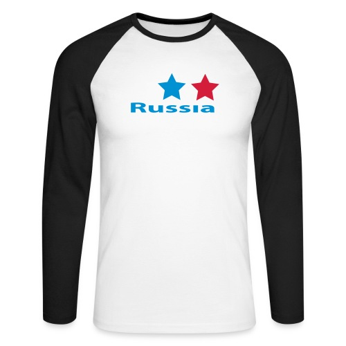 stars_russia - Männer Baseballshirt langarm