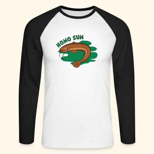 Homo sum ;) - Koszulka męska bejsbolowa z długim rękawem