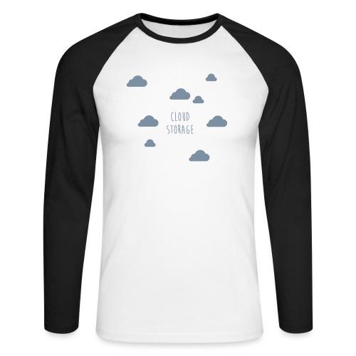 Cloud Storage - Männer Baseballshirt langarm