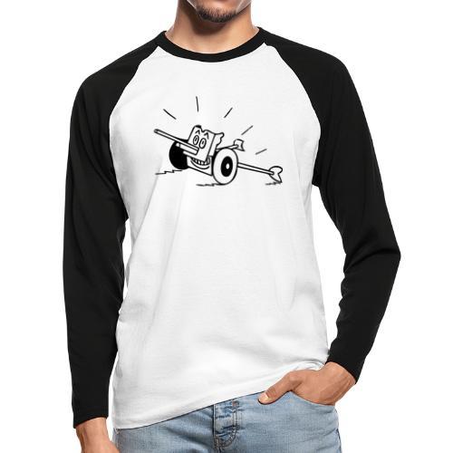 Panzerabwehrkanone - Männer Baseballshirt langarm
