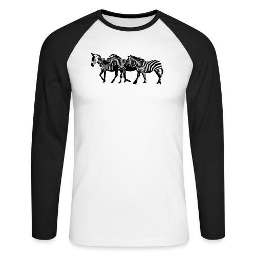 zebre - T-shirt baseball manches longues Homme