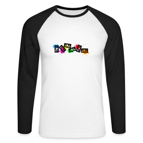 cassettescolor - T-shirt baseball manches longues Homme