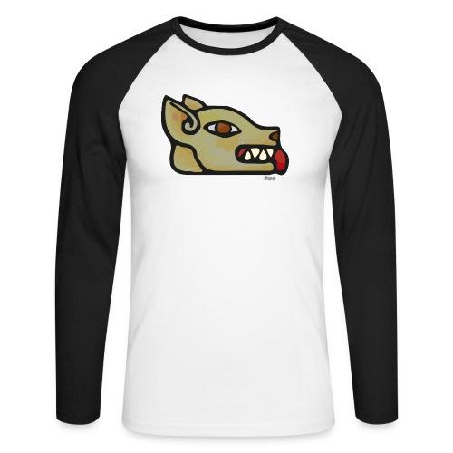 Aztec Icon Dog - Men's Long Sleeve Baseball T-Shirt