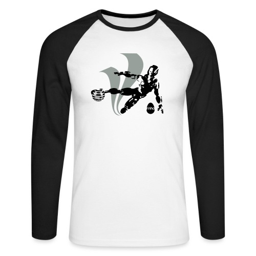 Football Robot - Maglia da baseball a manica lunga da uomo