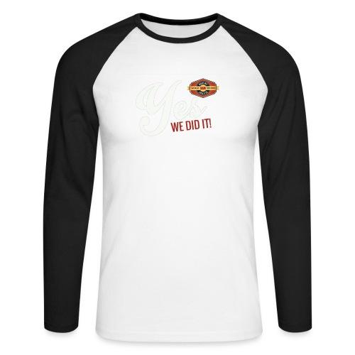 YES-we did it_white - Männer Baseballshirt langarm