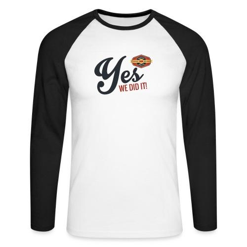YES-we did it_black - Männer Baseballshirt langarm