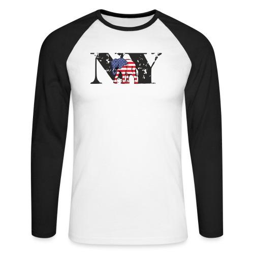 NY-ELEPHANT - Männer Baseballshirt langarm