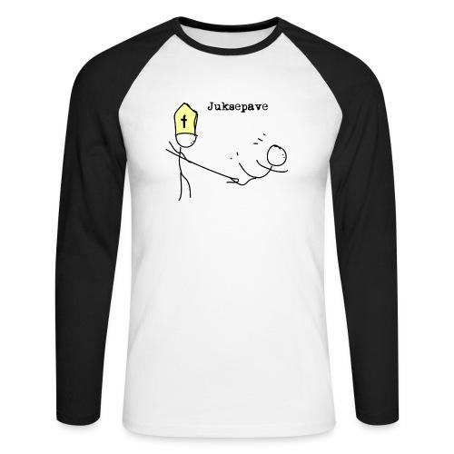 juksepave png - Langermet baseball-skjorte for menn