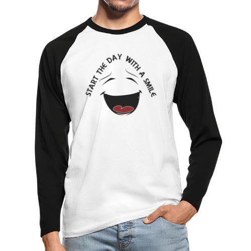 Zacznij dzień z uśmiechem - Koszulka męska bejsbolowa z długim rękawem