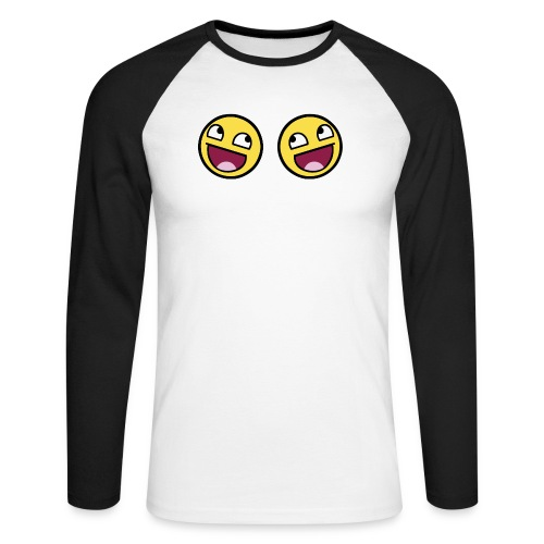 Boxers lolface 300 fixed gif - Men's Long Sleeve Baseball T-Shirt