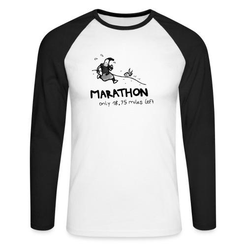 marathon-png - Koszulka męska bejsbolowa z długim rękawem