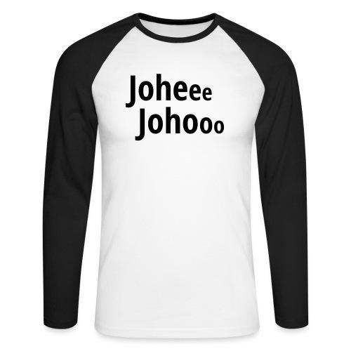 Premium T-Shirt Johee Johoo - Mannen baseballshirt lange mouw