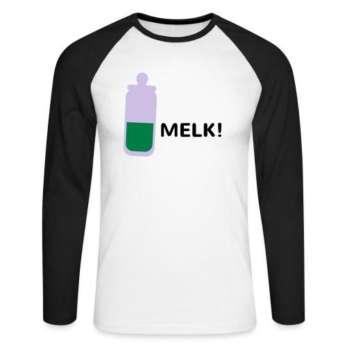 Grappige Rompertjes: Melk - Mannen baseballshirt lange mouw