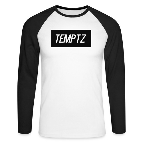 TempTz Orignial Hoodie Design - Men's Long Sleeve Baseball T-Shirt