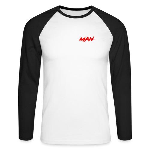 staceyman red design - Men's Long Sleeve Baseball T-Shirt