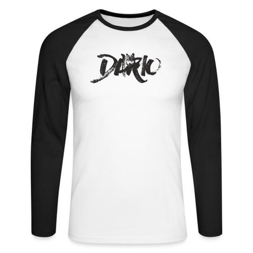 illustration logo noir - T-shirt baseball manches longues Homme