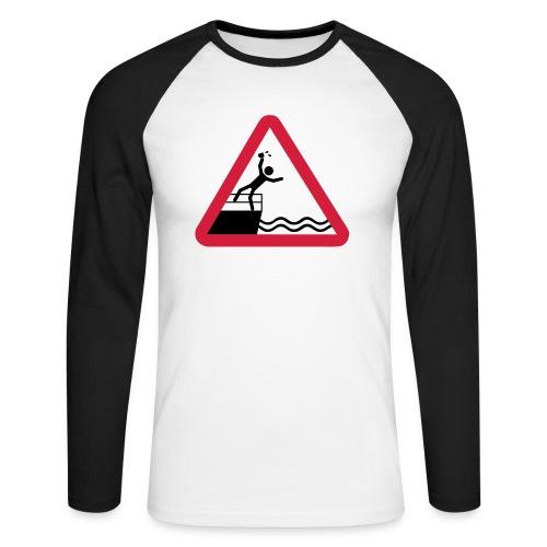 Bitte kein Bier Verschütten! - Männer Baseballshirt langarm
