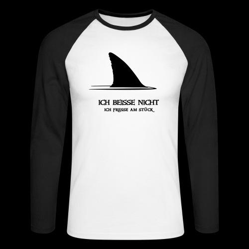 ~ ICH BEISSE NICHT ~ - Männer Baseballshirt langarm