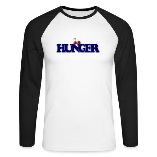 TShirt Hunger cerise - T-shirt baseball manches longues Homme