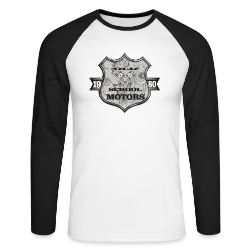 Old School Motors - Männer Baseballshirt langarm
