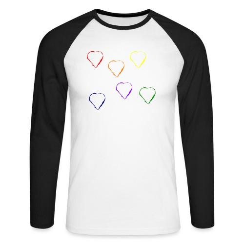 Tanzende Herzen 20.1 - Männer Baseballshirt langarm