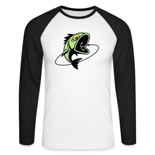VL107B_BigFish_3c - Männer Baseballshirt langarm