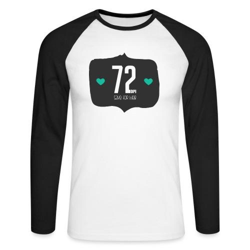 72DPI - Mannen baseballshirt lange mouw