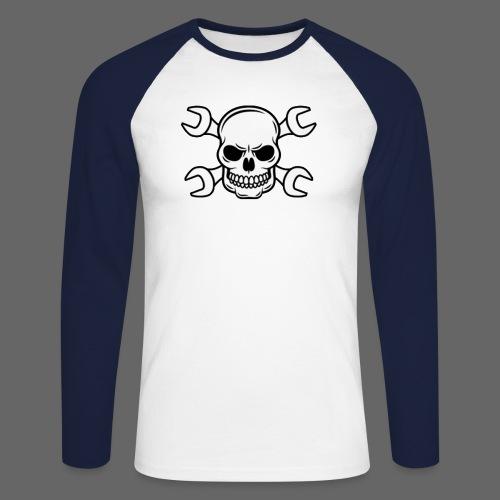 MEKKER SKULL - Langærmet herre-baseballshirt