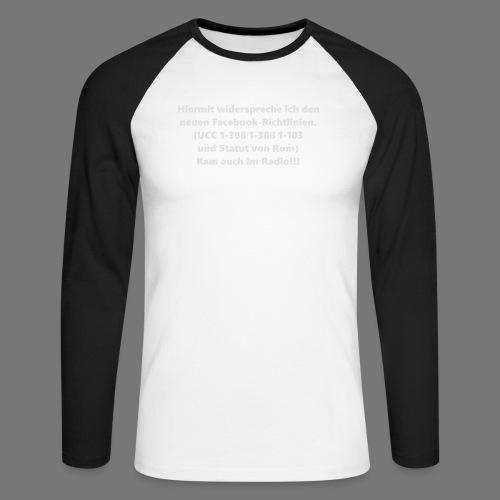 Facebook-AGB - Männer - Männer Baseballshirt langarm