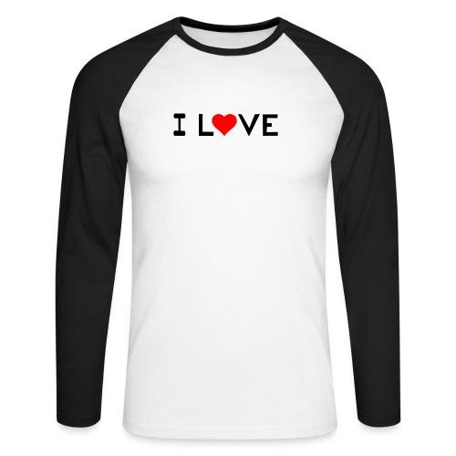 I love - Men's Long Sleeve Baseball T-Shirt